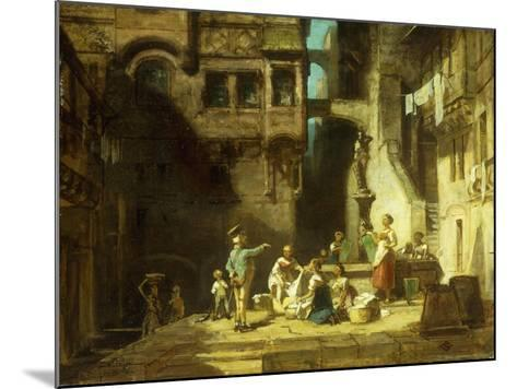 Laundry Women at the Well-Carl Spitzweg-Mounted Giclee Print