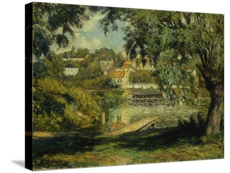 Village on the Banks of the River-Henri Lebasque-Stretched Canvas Print