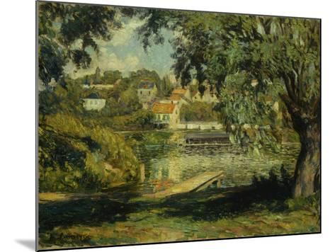 Village on the Banks of the River-Henri Lebasque-Mounted Giclee Print