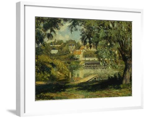 Village on the Banks of the River-Henri Lebasque-Framed Art Print