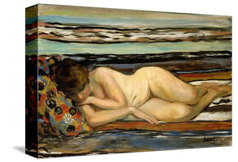 Nude Woman Sleeping-Henri Lebasque-Stretched Canvas Print