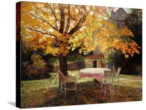 The Terrace, Autumn-Victor Charreton-Stretched Canvas Print