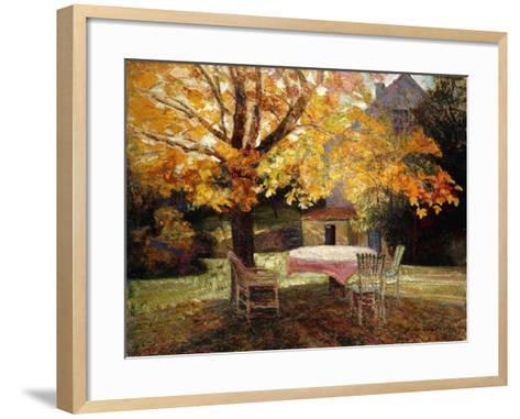 The Terrace, Autumn-Victor Charreton-Framed Art Print