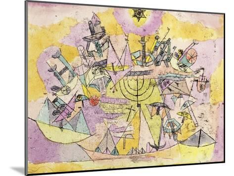 The Unlucky Ships-Paul Klee-Mounted Giclee Print