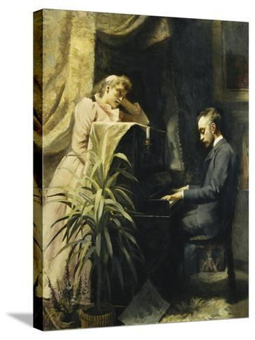 At the Piano-Emma Sparre-Stretched Canvas Print