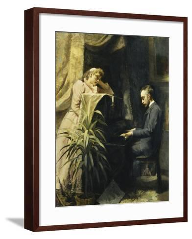 At the Piano-Emma Sparre-Framed Art Print