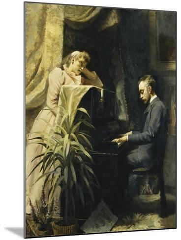 At the Piano-Emma Sparre-Mounted Giclee Print