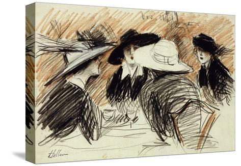 Vos Chapeux: Ladies at the Ritz, New York-Paul Cesar Helleu-Stretched Canvas Print