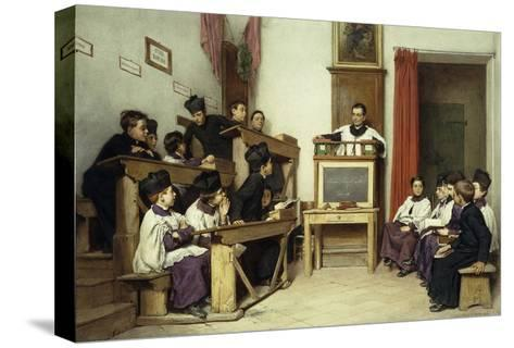 The Latin Class-Ludwig Passini-Stretched Canvas Print