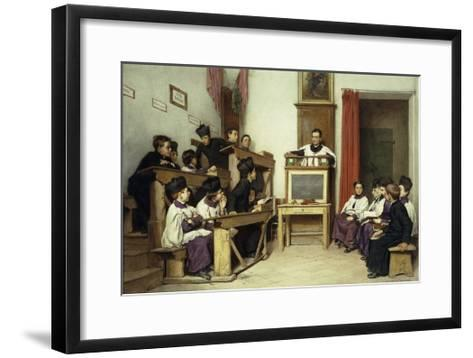 The Latin Class-Ludwig Passini-Framed Art Print
