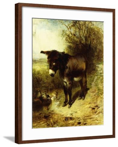 A Brown Study-William Huggins-Framed Art Print