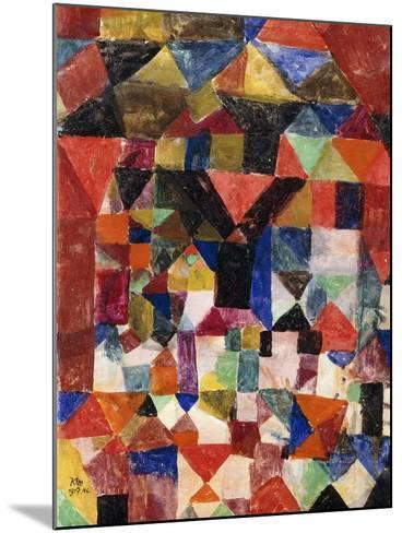 Stadtartiger Building-Paul Klee-Mounted Giclee Print