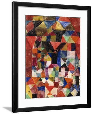 Stadtartiger Building-Paul Klee-Framed Art Print