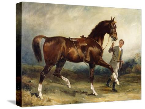 Horse and Groom in a Landscape-James Lynwood		 Palmer-Stretched Canvas Print