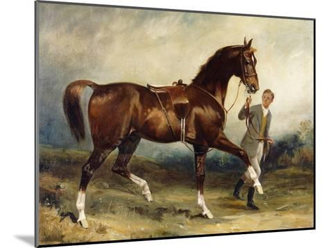Horse and Groom in a Landscape-James Lynwood		 Palmer-Mounted Giclee Print