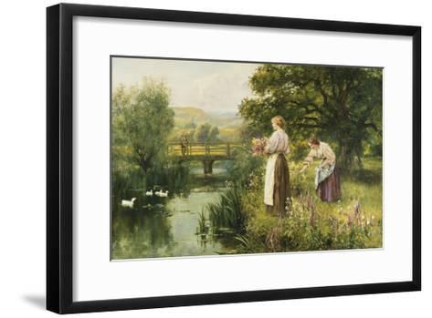 Gathering Spring Flowers-Henry John Yeend King-Framed Art Print