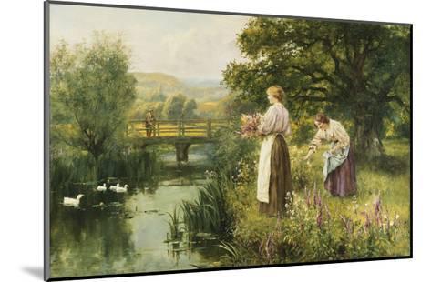 Gathering Spring Flowers-Henry John Yeend King-Mounted Giclee Print