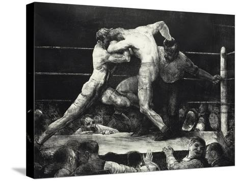 A Stag at Sharkey's-George Wesley Bellows-Stretched Canvas Print