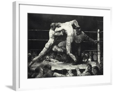 A Stag at Sharkey's-George Wesley Bellows-Framed Art Print