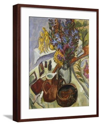 Still Life with Jug and African Bowl-Ernst Ludwig Kirchner-Framed Art Print