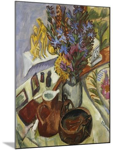 Still Life with Jug and African Bowl-Ernst Ludwig Kirchner-Mounted Giclee Print