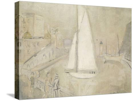 The White Yacht in Monte Carlo-Christopher Wood-Stretched Canvas Print