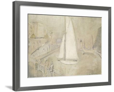 The White Yacht in Monte Carlo-Christopher Wood-Framed Art Print