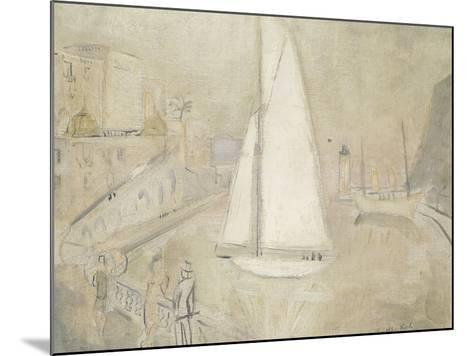 The White Yacht in Monte Carlo-Christopher Wood-Mounted Giclee Print