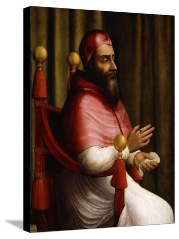 Portrait of Pope Clement VII-Giuliano Bugiardini-Stretched Canvas Print