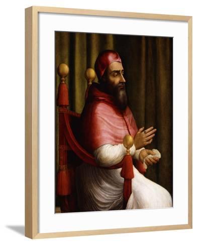 Portrait of Pope Clement VII-Giuliano Bugiardini-Framed Art Print