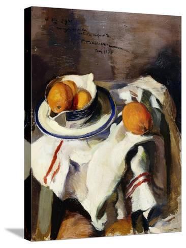 A Still Life with Oranges-Masriera F.-Stretched Canvas Print
