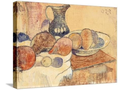 Still life with a Pitcher and Fruit-Paul Gauguin-Stretched Canvas Print