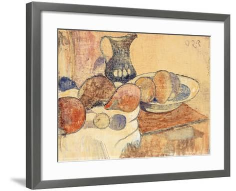 Still life with a Pitcher and Fruit-Paul Gauguin-Framed Art Print