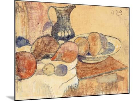 Still life with a Pitcher and Fruit-Paul Gauguin-Mounted Giclee Print