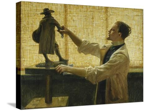 The Sculptor Carl Eldh in his Studio-Nyberg Vitalis-Stretched Canvas Print