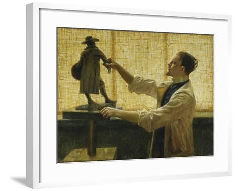 The Sculptor Carl Eldh in his Studio-Nyberg Vitalis-Framed Art Print