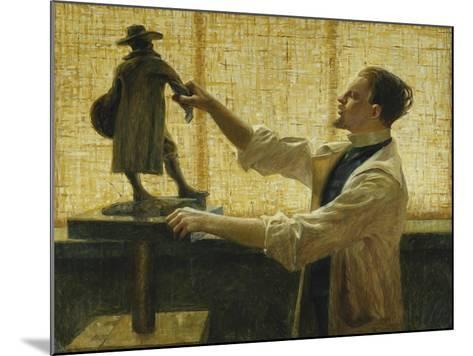 The Sculptor Carl Eldh in his Studio-Nyberg Vitalis-Mounted Giclee Print