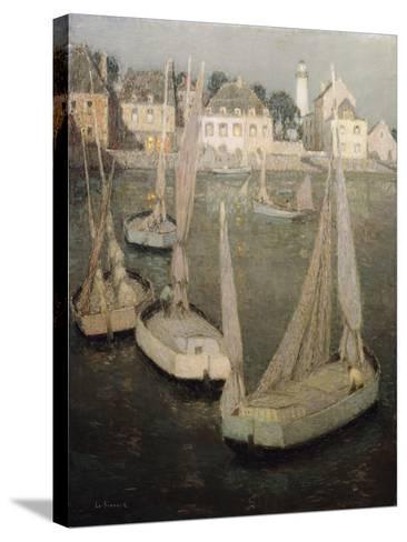 Breton Port by Moonlight-Henri Eugene Augustin Le Sidaner-Stretched Canvas Print