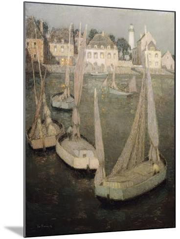 Breton Port by Moonlight-Henri Eugene Augustin Le Sidaner-Mounted Giclee Print