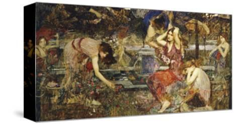 Flora and the Zephyrs-John William Waterhouse-Stretched Canvas Print