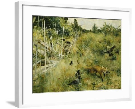 A Fox Taking a Crow-Bruno Liljefors-Framed Art Print