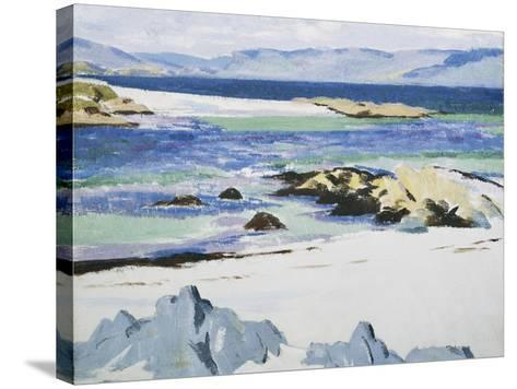 The Sound of Mull from Iona-Francis Campbell Cadell-Stretched Canvas Print