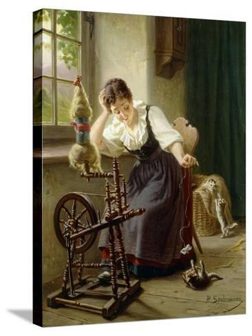 Playing with the Cat-Sondermann Herman-Stretched Canvas Print