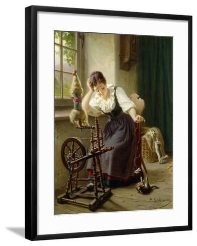 Playing with the Cat-Sondermann Herman-Framed Art Print