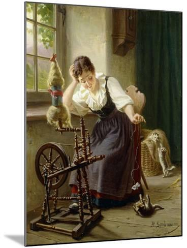Playing with the Cat-Sondermann Herman-Mounted Giclee Print