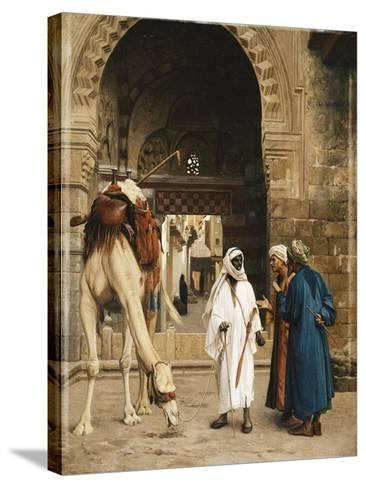 A Dispute Among Arabs-Jean Leon		 Gerome-Stretched Canvas Print