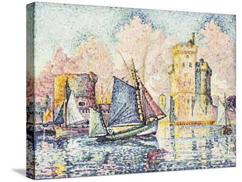 Tuna Boat Entering the Port of La Rochelle-Paul Signac-Stretched Canvas Print