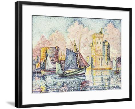 Tuna Boat Entering the Port of La Rochelle-Paul Signac-Framed Art Print