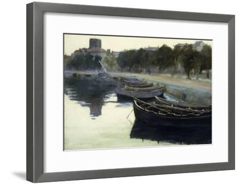 Boats at their Moorings-Victor		 Dupre-Framed Art Print