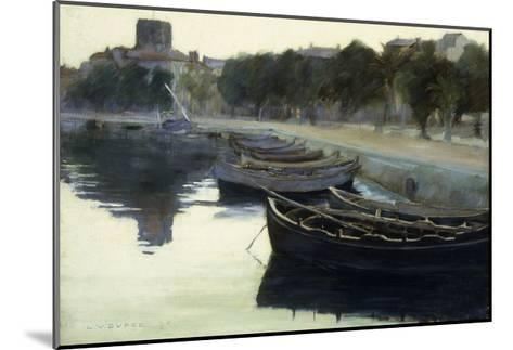 Boats at their Moorings-Victor		 Dupre-Mounted Giclee Print